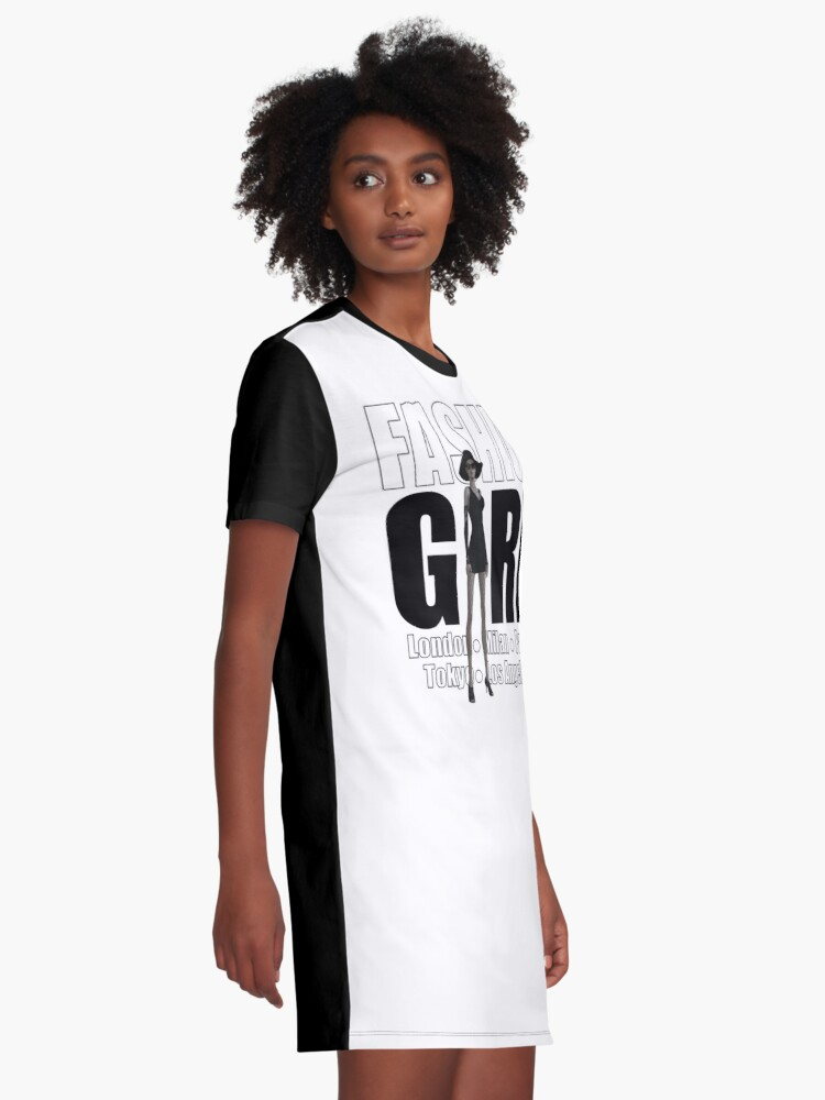 Alternate view of Fashion Girl Graphic T-Shirt Dress