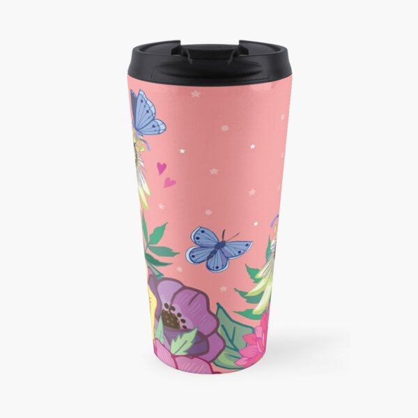 Spring Garden on Coral Travel Mug