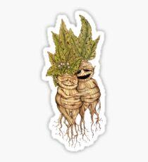 Mandrakes - Cute couples of mandragoras - Couple of old mandrakes Sticker