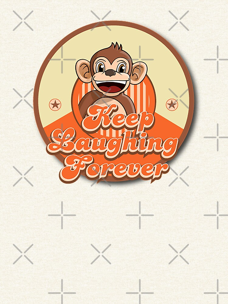 Keep Laughing Forever Retro Monkey by warrant311