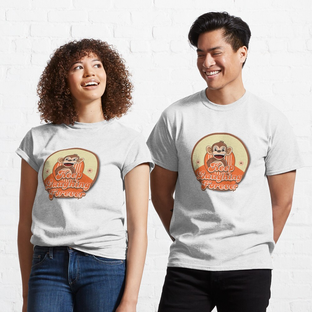 Keep Laughing Forever Retro Monkey Classic T-Shirt