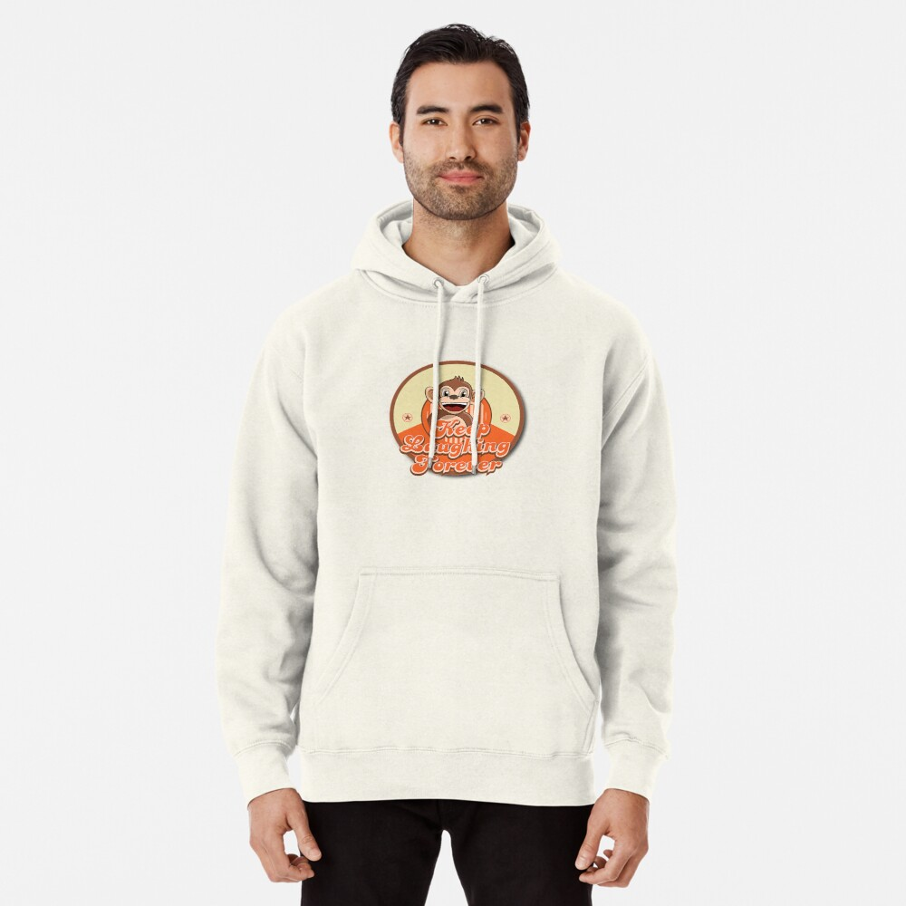 Keep Laughing Forever Retro Monkey Pullover Hoodie