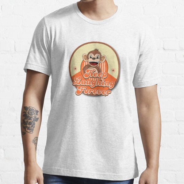 Keep Laughing Forever Retro Monkey Essential T-Shirt
