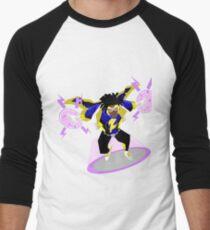Camiseta ¾ estilo béisbol Detective Comics Presents: Superhero Static Shock!