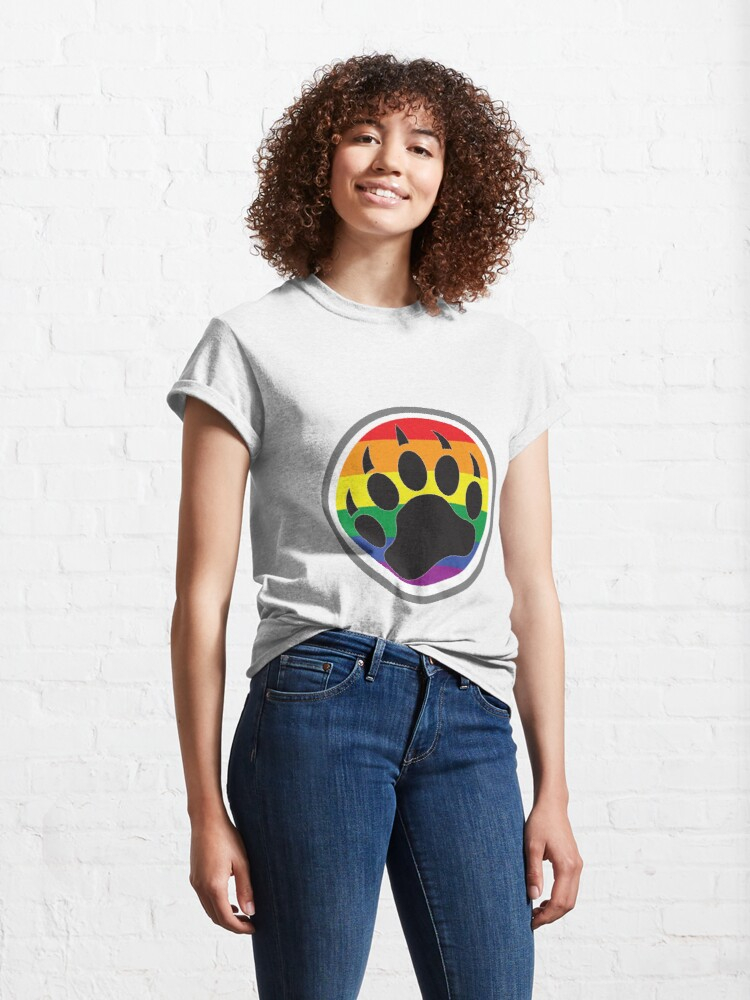 Alternate view of Bear Claw Gay Classic T-Shirt