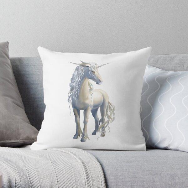 Beautiful Unicorn Throw Pillow Throw Pillow