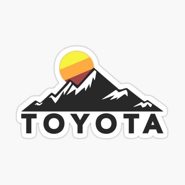Texte épais - Toyota Mountain Design Sticker