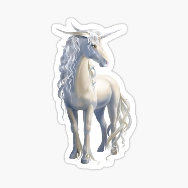 Beautiful Unicorn Stickers Glossy Sticker