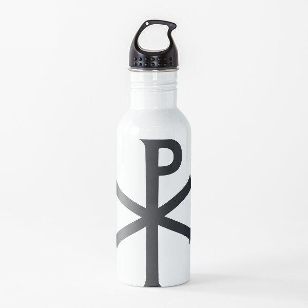 formado mediante la superposición de las dos primeras letras (mayúsculas), chi y rho (ΧΡ), de la palabra griega ΧΡΙΣΤΟΣ (Christos) de tal manera que el trazo vertical del rho se cruza con el centro del chi. [2]  El símbolo de Chi-Rho fue utilizado por  Botella de agua