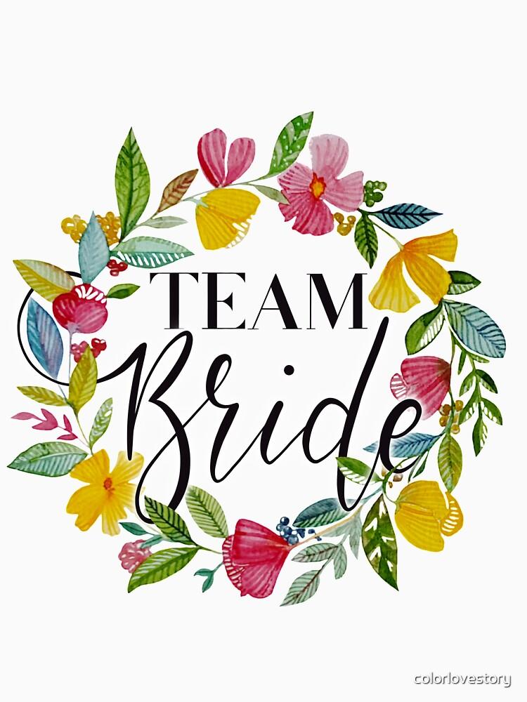 Team Bride Blumenkranz von colorlovestory