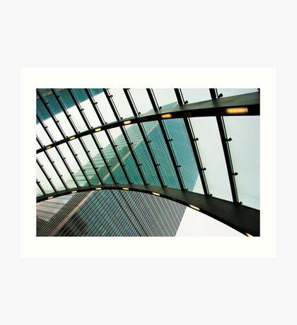 Polarised View: Canary Wharf, Tube Station, London, UK. Art Print