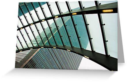 Polarised View: Canary Wharf, Tube Station, London, UK. by DonDavisUK
