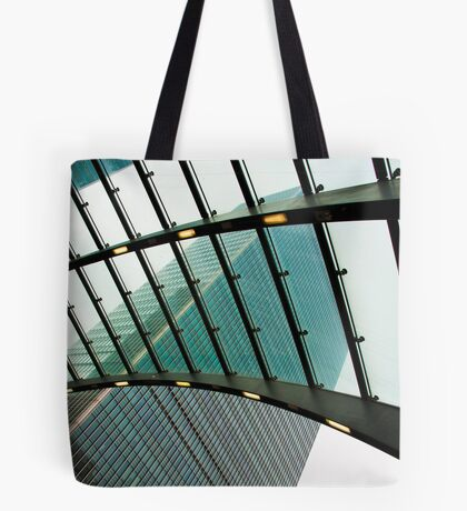 Polarised View: Canary Wharf, Tube Station, London, UK. Tote Bag