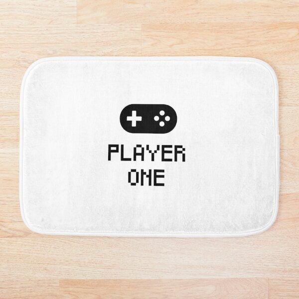 Player One Graphic Black Bath Mat