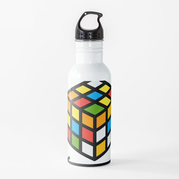 Cute Rubik's Cube Hobby Emblem Water Bottle