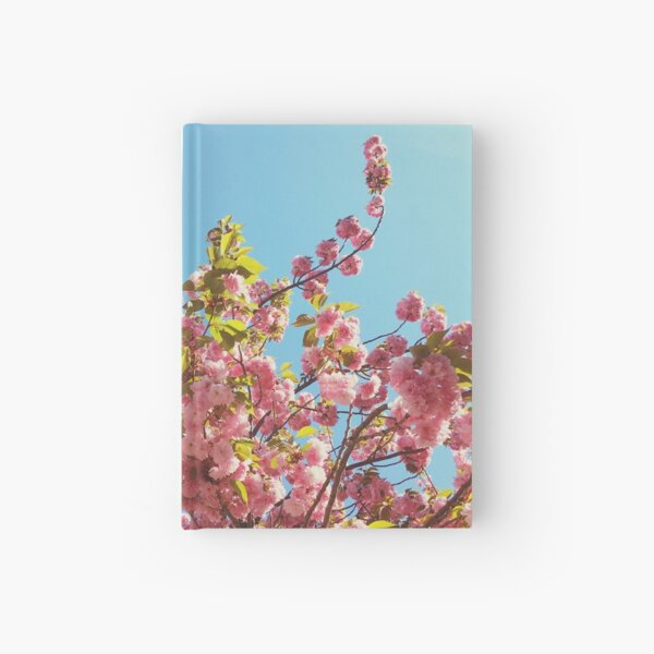 Floral Gift - Cherry Blossoms Photography - Gardener Present Hardcover Journal