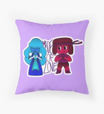 Ruby and Sapphire made of love Floor Pillow
