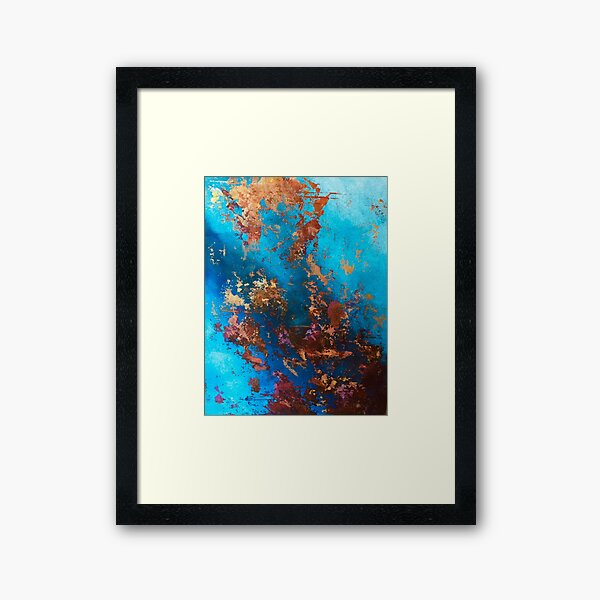 Fire and Ice Abstract Framed Art Print