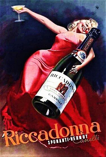 Gancia Cappiello Vintage Liqour Ad Poster Print 24x36