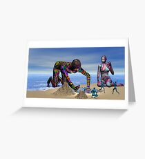 Discoverying the Aqua People Greeting Card