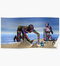 Discoverying the Aqua People Poster