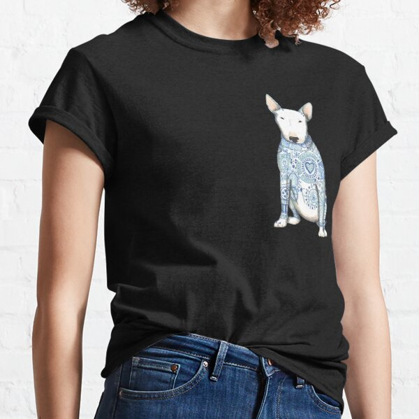English Bull Terrier, Beautiful Bully,with his best tattoos Classic T-Shirt