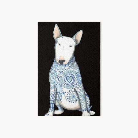 English Bull Terrier Motif 6 x 4 Picture Photo Frame Portrait Dog Xmas Gift