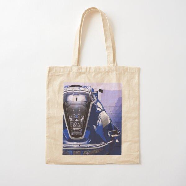 Blue Ferrari FXX K Cotton Tote Bag