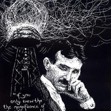 """""""Nikola Tesla""""- 2010 by consciousD"""