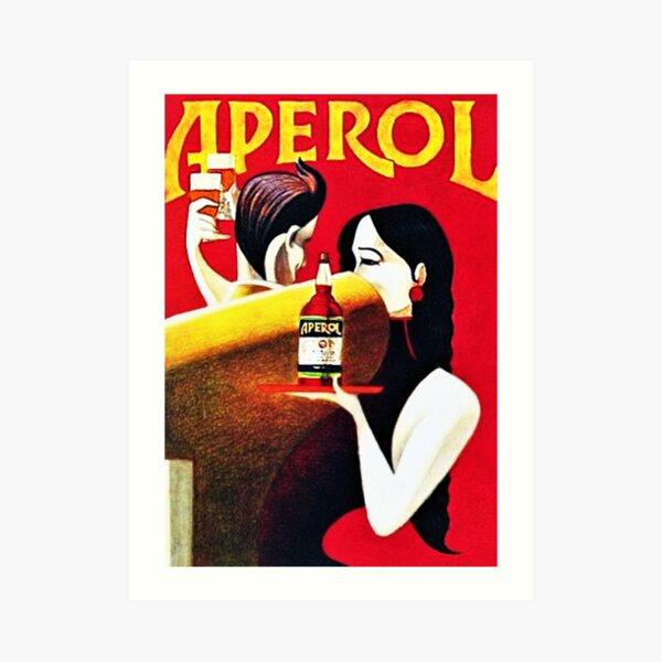 Vintage Italian Apero Aperitif Antico Lithograph Wall Art Art Print