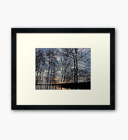 Sunset over Gulladoo Framed Print