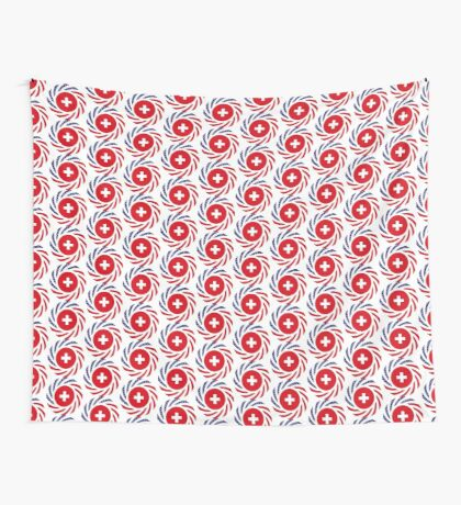 Swiss American Multinational Patriot Flag Series Wall Tapestry