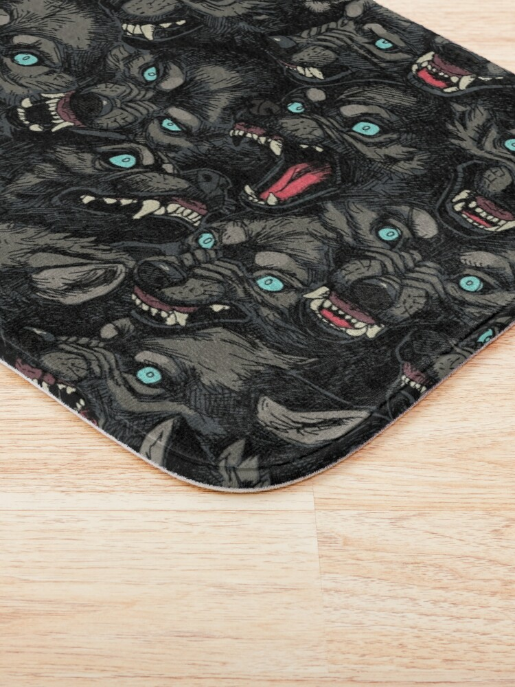 Alternate view of Wolf Pack Pattern Bath Mat