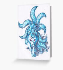 Blue Ninetales Greeting Card