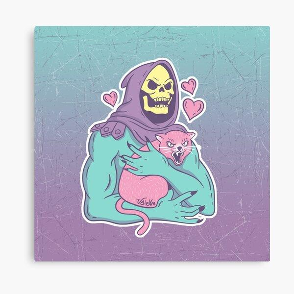 Skeletors Katze Leinwanddruck
