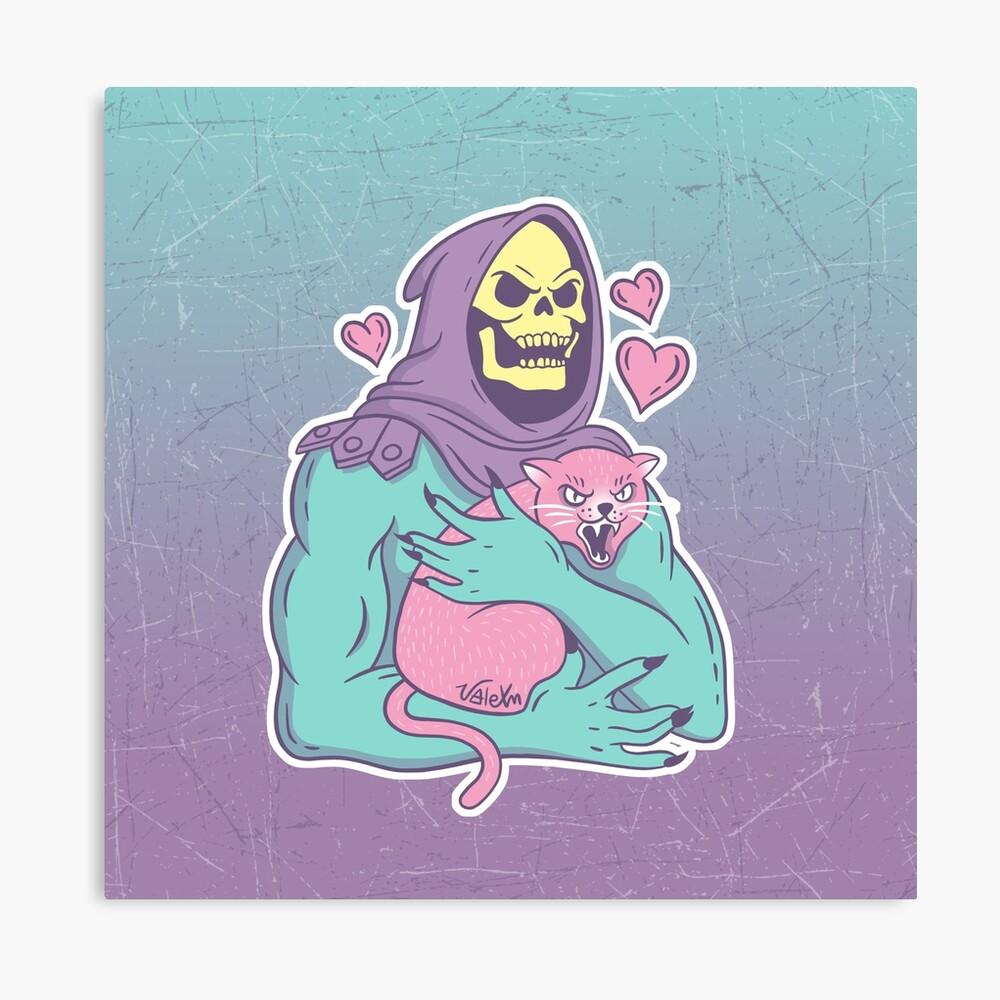 Skeletor's Cat Canvas Print