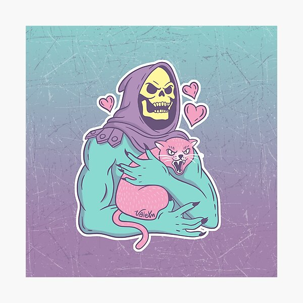 Skeletor's Cat Photographic Print