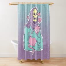 Skeletor's Cat Shower Curtain