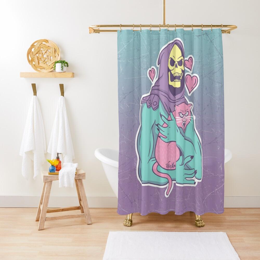 Gato de esqueleto Cortina de ducha