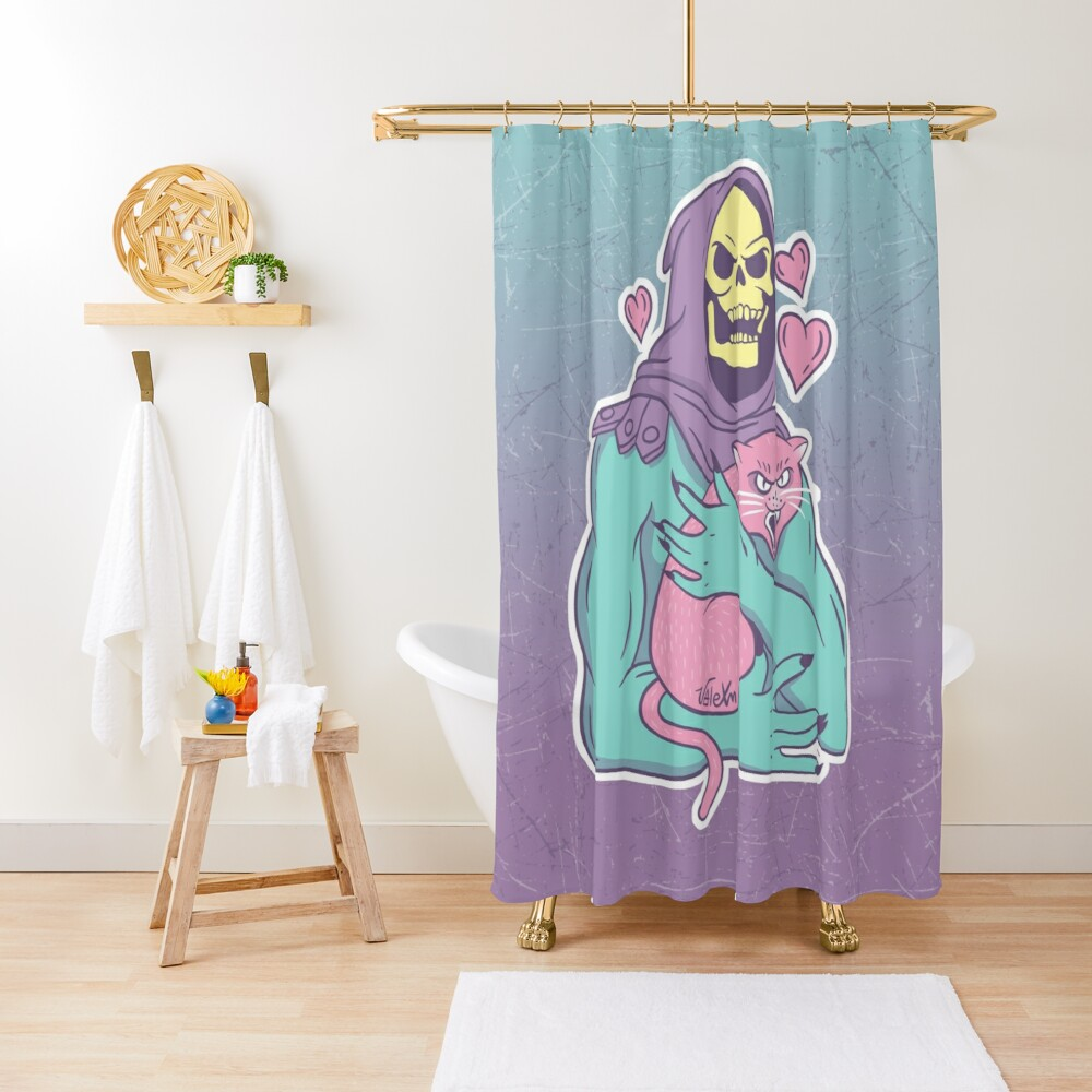Skeletor's Cat Shower Curtain