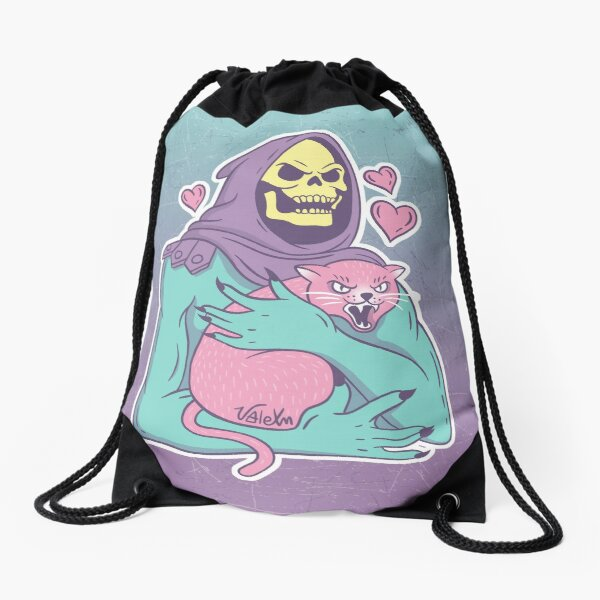 Skeletor's Cat Drawstring Bag
