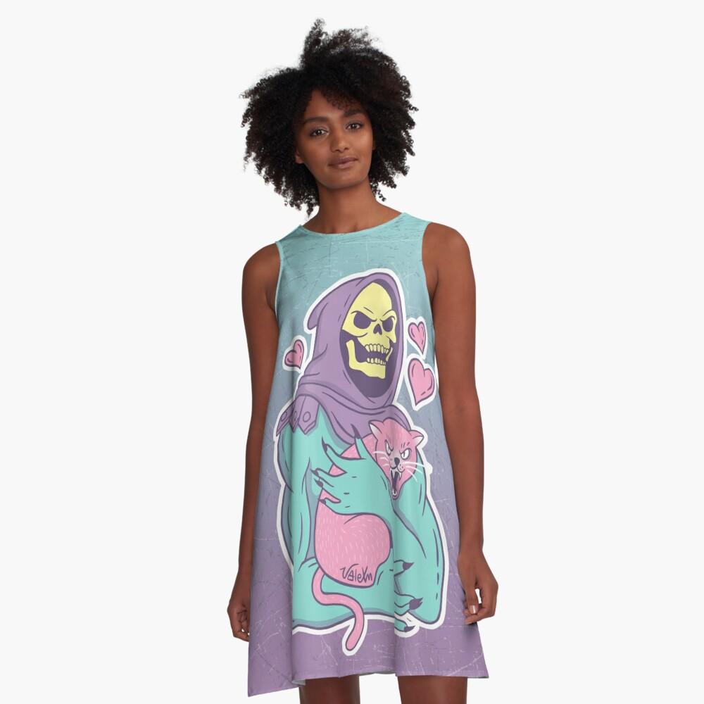 Skeletor's Cat A-Line Dress