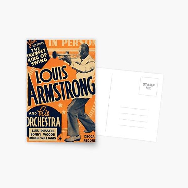 Louis Armstrong Vintage Postcard