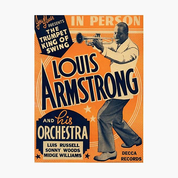 Louis Armstrong Vintage Photographic Print