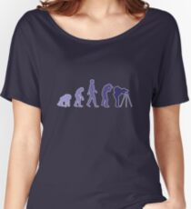 Purple Photographer Evolution Women's Relaxed Fit T-Shirt