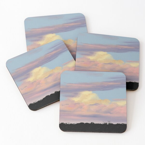 Sunset Clouds  Coasters (Set of 4)