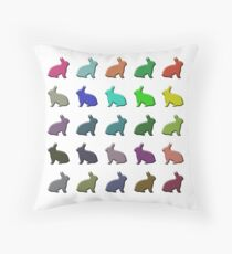 BUNNIES! Throw Pillow