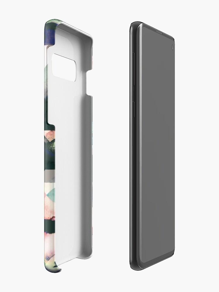 Vista alternativa de Funda y vinilo para Samsung Galaxy Azulejos Watercolored