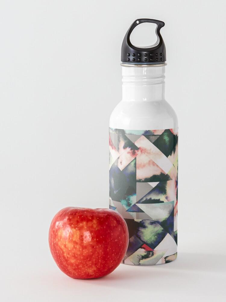 Vista alternativa de Botella de agua Azulejos Watercolored