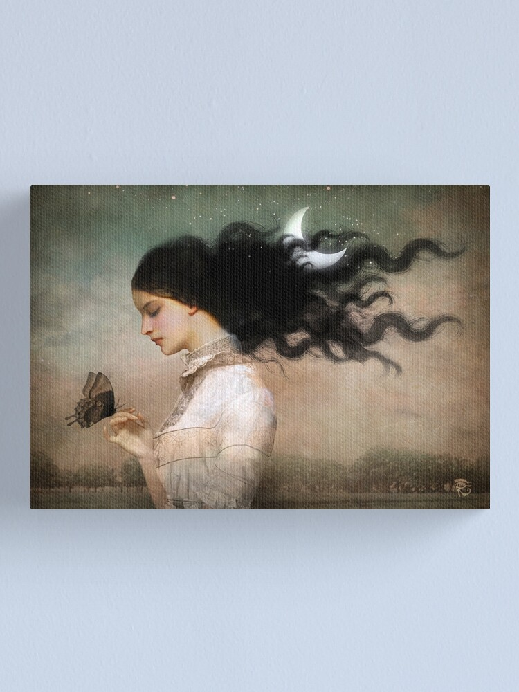 Alternate view of she likes the night Canvas Print